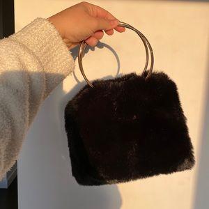 Fury black shoulder/hand bag